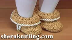 How to Crochet Baby Booties  http://sheruknitting.com/sherufashion/clothes-for-kids/item/803-easy-to-crochet-folded-baby-booties-tutorial-45.html In this crochet video tutorial I will be working on these easy to crochet folded baby booties.