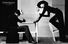 Yves Saint Laurent Fall 1999 Campaign Photo Philippe Cometti Model Stella Tennant