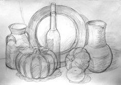 натюрморт рисунок карандашом - Поиск в Google