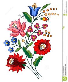 Embroidery designs Stock Photo
