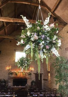 A Cripps Barn wedding styled by top Bristol Stylist/florists, The Wilde Bunch. The overhead hanging garlands bring a real 'wow' to the whole Ceremony. Stun your guests with a touch of Wilde Bunch magic. Cripps Barn Wedding, Barn Wedding Venue, Barn Wedding Flowers, Wedding Styles, Wedding Ideas, Hanging Garland, Stone Barns, Florists, Garlands