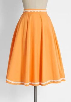 New Arrival Dresses and Clothing for Women | ModCloth Cute Skirts, A Line Skirts, Cute Dresses, Vintage Dresses, Cute Outfits, Plus Size Skirts, Plus Size Outfits, Orange Sherbert, Fancy Tie