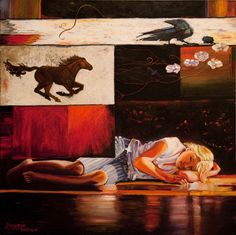"""Judith Dazzio painting - """"Day Dreaming"""""""
