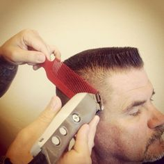 Flattop haircut in progress Nba Haircuts, Cool Haircuts, Haircuts For Men, Unique Hairstyles, Straight Hairstyles, Men's Hairstyles, Flat Top Haircut, Professional Hairstyles, Beard Styles