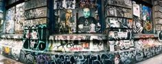 Graffiti covered Germania Bank Building on Bowery Street, Soho, Manhattan, New York City, New York State, USA Poster Print by Panoramic Images (23 x 9)