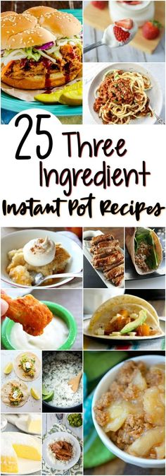 These 25 mouth-watering Instant Pot recipes take fast food to a whole new level! These are the best 25 best instant pot recipes are homemade. With only three ingredients, there's no excuse for not eating in. Save this pin for later! Best Instant Pot Recipe, Instant Pot Dinner Recipes, Instant Recipes, Healthy Recipes, Cooking Recipes, Fast Recipes, Cheap Recipes, Easy Instapot Recipes, Instapot Pasta