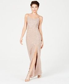 54237bae0cf4 Juniors  Off-The-Shoulder Crepe Gown