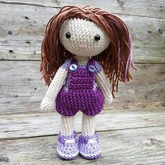 This lovely crochet pattern is available on revelry. Tis Amigurumi doll is about 8 inches tall and she ha the cutest outfits that come off.