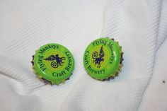 Handcrafted Cuff Links - Flying Monkey's Hoptical Illusion Craft Beer Cap with 24 ct Gold Plated Knurled Posts by Witmer Enterprises, $15.00 at witmerenterprises.com and also @Etsy