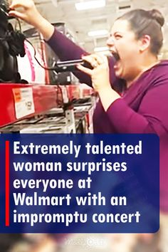 Christina Kokonis-Viggers is a singer who usually sings on stage, but today she did something out of character. While at a Walmart she decides to grab a mic from a karaoke machine and sing 'Maybe This Time' from the musical, 'Cabaret.' She fills the aisles with her beautiful voice. #singing #walmart #music #song