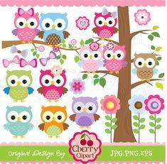 Clip Art Pictures, Cute Owls Digital Clipart Elements Set via Etsy Bird Clipart, Cute Clipart, Kit Scrapbook, Scrapbooking, Clip Art Pictures, Art Images, Owl Clip Art, Paper Owls, Owl Punch