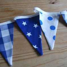 Blue & white baby bunting by Bella and the Moo on folksy.com