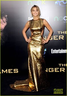 Jennifer Lawrence Hunger Games Premiere aaaahhh love her and this dresssss