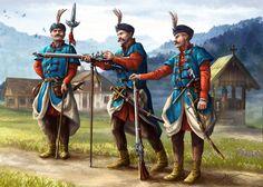 Hajducy by AleksanderKarcz on DeviantArt World History, Art History, Les Balkans, Thirty Years' War, Medieval Fashion, Fantasy Warrior, Central Europe, Modern Warfare, Military Art