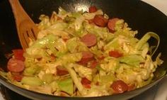 Southern Fried Cabbage With Sausage (use real butter and turkey sausage)