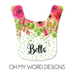 Personalized baby bib monograms baby gifts bibs baby girl baby personalized baby bib monograms baby gifts bibs baby girl baby accessories watercolor flowers personalized baby gifts negle Gallery