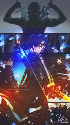 Check out our Sword Art Online Products now! Kirito Sword, Kirito Asuna, Sword Art Online Kirito, Arte Online, Online Art, Online Anime, Anime Character Names, Anime Characters, Desenhos Love