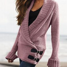 Victoria's Secret Leather Buckle Wrap Sweater