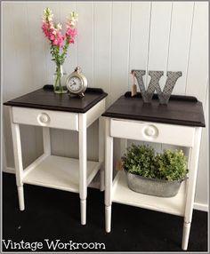 Vintage Workroom retro painted side tables