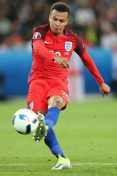 #EURO2016 Dele Alli during the UEFA EURO 2016 Group B match between Slovakia and England at Stade GeoffroyGuichard on June 20 2016 in SaintEtienne France
