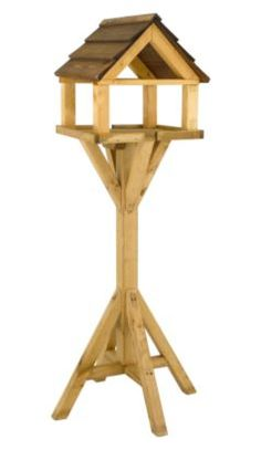 Nice new table for my birds. Gardman Honey Pine Deluxe Bird Table, A03034