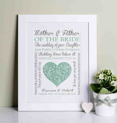 43 best wedding gifts for parents images on Pinterest | Wedding ...