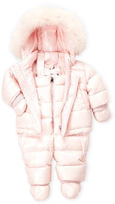 256c054da Place Infant Girls Ivory Quilted Snowsuit Baby Pram Snow Suit | Baby ...