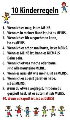 10 Kinderregeln