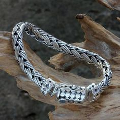 Men's sterling silver braided bracelet, 'Friendship'. Shop from #UNICEFMarket and help #UNICEF save the lives of children around the world.