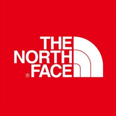 The logo of The North Face consists of a slanted quarter-circle with two lines inside and the logotype on the left side of the symbol. The font used in the logotype is very similar to a font called Helvetica Bold.