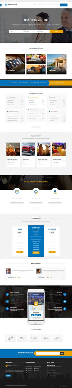 Wisem Directory is a Modern and clean Directory HTML Template. It is best for creating a #directory, coupons, listings or #Classified-ads portal. #HTMLTemplate #Responsivetheme