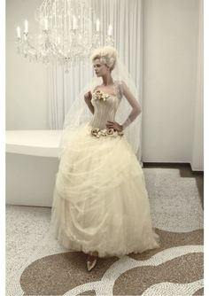 Fairytale champagne wedding gown
