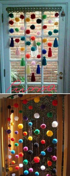 Playful Ball Curtain - Cute DIY Window Decorating Ways Sure To Amaze You