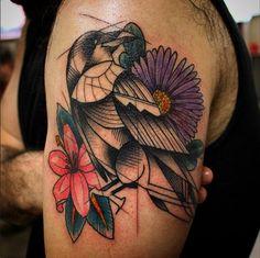 Post with 5 votes and 901 views. Geometric raven by Jon Kelly - Olde Tyme Tattoo - Fullerton CA Tattoo Ideas Tumblr, Geometric Tattoo Bird, Tattoo Inspiration, Body Art, Raven, Bullshit, Tatoo, Crows, Ravens