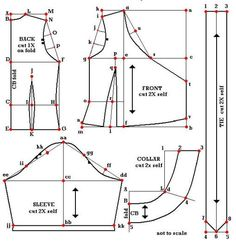 Drafting a Wrap-front top