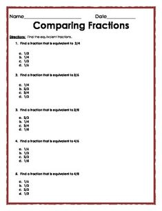 Printables Multiple Choice Math Worksheets the ojays fractions worksheets and on pinterest equivalent multiple choice quiz 4 pages subject elementary math 2