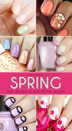 21 flirty and fun manicures to try for spring. #NailArt #Spring
