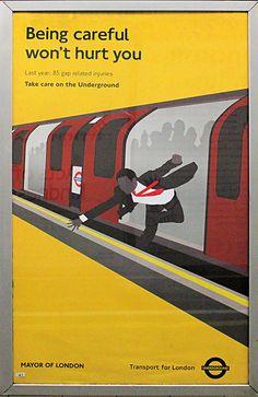 London Underground poster by bowroaduk, via Flickr