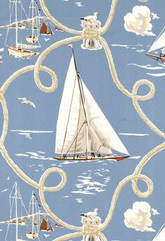 Summer Regatta by Schumacher....wallpaper