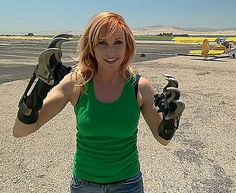 Carrie from Mythbusters and her fabricated bear claws. Any girl that can fabricate and weld is hot