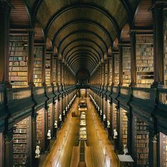 DublinIt's difficult to know which is the bigger draw—the stately interior of the historic building or the notable works in its collection. Yes, the Long Room, which features dark wood pilasters and a dramatic vaulted ceiling, is a showstopper. But the lavishly illustrated Book of Kells, which dates from the 9th century, is here, too, and is bound to command at least some of every visitor's attention.