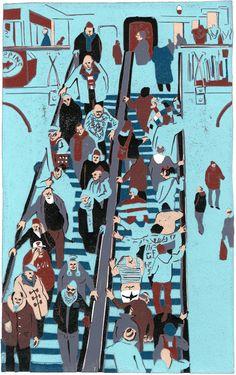 Graham Firth step by step - escalator-print-part-20.jpg (628×1000)