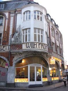 Art Nouveau Building In Aachen, Germany