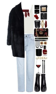 """""""My constellation in space"""" by bluemagicocean ❤ liked on Polyvore featuring Yves Saint Laurent, 3.1 Phillip Lim, Alexander McQueen, Robert Clergerie, Gucci, GUESS, Nachtmann, La Perla, Orto Parisi and Frédéric Malle"""