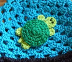 Crochet Turtle Applique