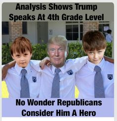 He must have paid well for his diploma...nearly didn't pin this because it is such an insult to 4th graders.