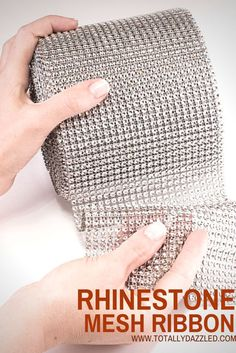 Check out this site for high quality rhinestone mesh and more!  www.totallydazzled.com