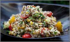 quinoa salad by The Culinary Chase.  This looks so delicious!!  My next summer salad....