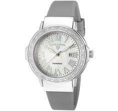 Swiss Legend Women's South Beach White Diamond (0.096 ctw) White MOP Dial Light Grey Silicone SL-20032D-02-LGRY Watch