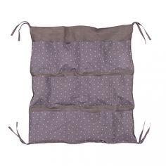 Lin & Cie - rangement de lit parme étoilé